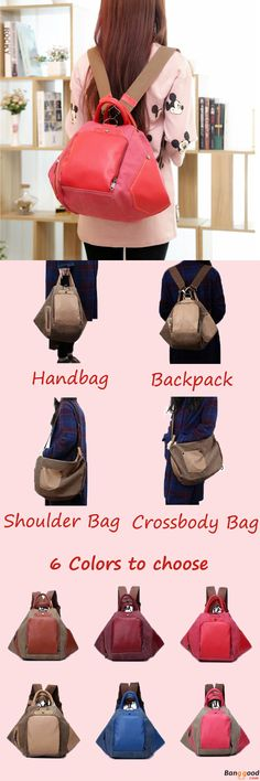 US$25.74 + Free shipping. Women Vintage Backpack, Women Handbag, Women Crossbody Bag, Canvas bag, Casual Style, Women Shoulder Bags, Students School Bags. Color: Brown, Rose Red, Khaki, Burgundy, Red. Shop Now to Get it Home.