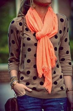 Orange Scarf ツ
