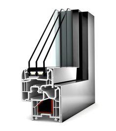 Okno PCV - aluminium Internorm Home Pure KF 200. Izolacyjność cieplna okna do 0,81 W/m²K.