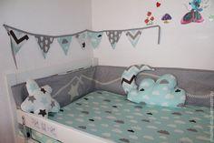 Купить Бортики в детскую кроватку - разноцветный, бортики в кроватку, бортики, бортики в детскую кровать, комплект