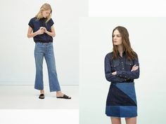 I'm totally craving for this two garments from Zara The short flared jean for his casual look , laid back style and the two front po. Laid Back Style, Glove, Flare Jeans, Bell Bottoms, Casual Looks, Bell Bottom Jeans, Two By Two, Zara, Shorts