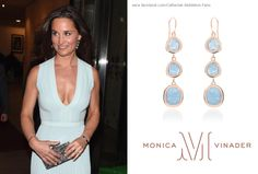 Pippa Middleton Monica Vinader Siren Wire Cocktail Earrings (£300). Pippa Middleton Style, Pippa And James, Princess Kate, Royalty, Camisole Top, Tank Tops, Jewelry, Cocktail, Wire