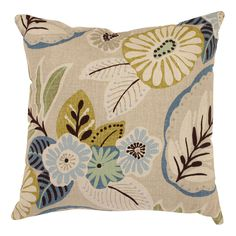 With a look inspired by lush tropical blossoms and cool sea breezes, this decorative throw pillow will bring a fresh, modern feel to your home's decor. Featuring striking, artistic images printed on linen-like fabric, this piece sure to please.