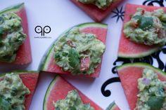 Paleo Guacamole Watermelon Bites