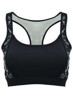 Women's Gym Yoga Sports Running Push-up Padded Print Bra