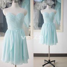 Stock size bridesmaid dress short bridesmaid dresses bridesmaid dresses blue knee-length dear bridesmaid dress