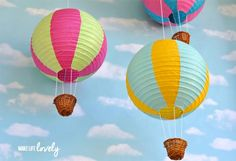 Globos de linternas de papel en Manualidades para decorar y detalles de decoración del hogar, fiestas y eventos