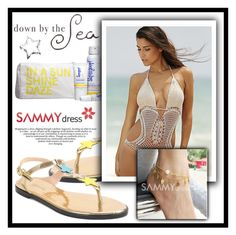 """""""Down by the Sea.."""" by amra-sarajlic ❤ liked on Polyvore featuring Supergoop! and sammydress"""