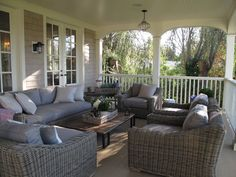 Beautiful porch and furnishings