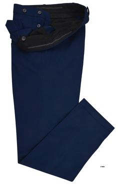 Robin Blue twill chino dress pant from Luxire: http://custom.luxire.com/products/royal-blue-twill-chino-1  Features: Front slant pockets, standard extended closure, right rear pocket with flap and 1″ bottom cuffs.