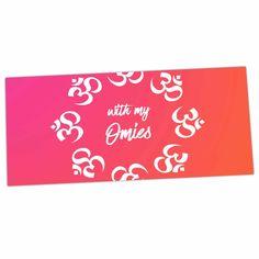 "KESS Original ""With My Omies Pink"" Coral Magenta Desk Mat"