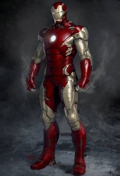 Early Concept Art of Characters From Iron Man, Captain America and the Avengers in the Marvel Cinematic Universe