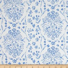 Michael Miller Sommer Sundborn Blueberry from @fabricdotcom  Designed by Sarah Jane for Michael Miller Fabrics, this cotton print fabric is perfect for quilting and craft projects. Colors include blue and white.