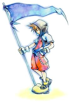 Kingdom Hearts - Sora With Flag