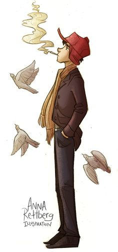 Holden Caulfield by aerettberg.deviantart.com on @DeviantArt