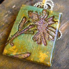 Dandelion  Polymer Clay And Resin Pendant by purplecactusstudios, $24.00