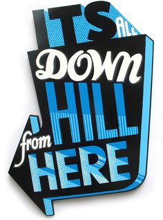 Its all downhill - Andy Smith Illustration