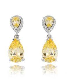 18d20fb7e34 brinco festa com zirconias fancy yellow e cristais semi joias de luxo  Brincos Grandes