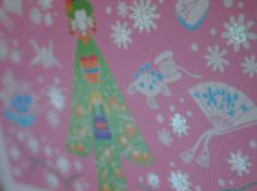 Detail of Kimono pink card