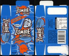 Australia - Sweetmans - Sour Zombie Chewy Tape - Blue Raspberry - candy box - 2011 by JasonLiebig, via Flickr