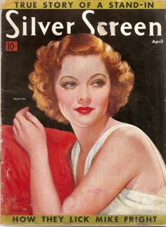 Silver Screen Magazine - April 1938 - Myrna Loy on cover