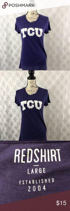 TCU Texas Christian Horned Frogs Crew Tee NWT NWT