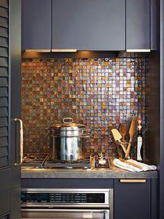 Love this tile backsplash