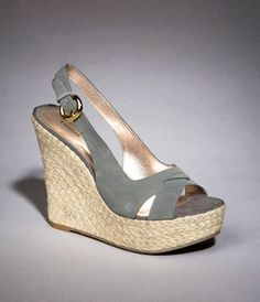 Suede slingback wedge sandals for Express.