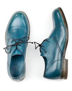 MOMA 33506 teal blue oxfords for women.