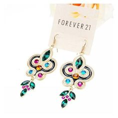 Christmas GERGER BO Fashion Wild Owl Colorful Earrings -- Visit the image link more details.