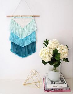 Mollie Makes ombre woven wall hanging MM 48