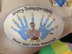 Make one of these this year!! It will never happen again in your lifetime! Pottery Picasso's paint your own pottery happy thanksgivukkah