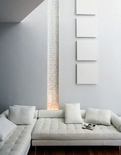 all-white interior with interesting texture detail