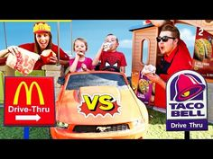 Kids Pretend Play - Food Truck Hamburger and McDonald's Happy Meal Toy - YouTube