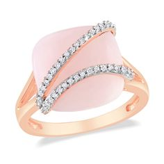 Diamond, Pink Opal #Ring