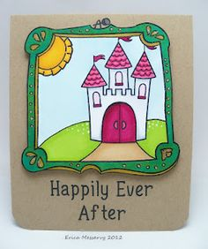 Lawnscaping Challenge #30 - Inspired By... - Super Cute card by Erica, love how she modified the Fanciful Frame! (Honorable Gnome)