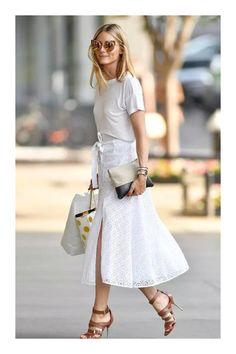 0a9654e5e Las 27 mejores imágenes de faldas blancas en 2016   Faldas blancas ...