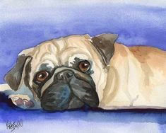 Australian Cattle Dog Art Print Signed by Artist Ron Krajewski Painting 8x10