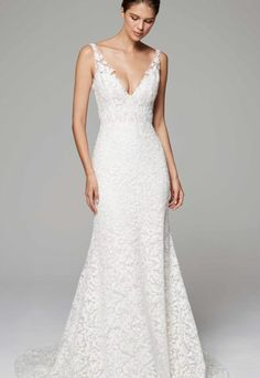 Romantic Fit And Flare Wedding Dress by Anne Barge - Image 1