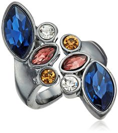 GUESS Clustered Stone Bypass Ring, Size 7 >>> Visit the image link for more details. #JewelryForWomen