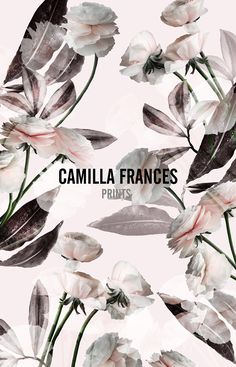 { digital floral print } Camilla Frances Prints