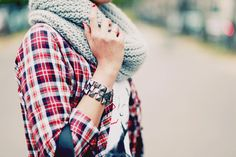 plaid&scarf.