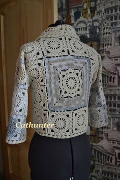 Crochet jacket: pattern♪ ♪ ... #inspiration_crochet #diy GB
