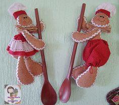Casal de Ginger na colher gingerbread art, happi todaygingerbread, gingerbread collector, gingerbread peopl, gingerbread men