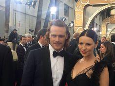 Sam & Cait!!!! #Outlander On the Red Carpet #GoldenGlobes2016