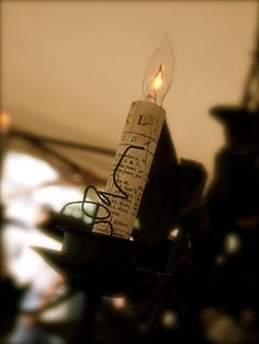 book page candle light