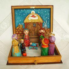 Conjunto de PEG muñeca Natividad Navidad pesebre Natividad