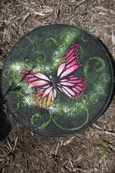 Pink Butterfly Magic Stepping Stone packet - Patricia Rawlinson
