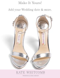 65445264ae Stunning silver bridal sandals for your wedding •Wedding Shoes •Silver shoes  for bride •
