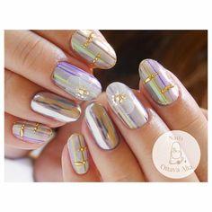 秋色ストライプ  #ignails #nail #nails #nailart #nailaddict #naildesign #nailswag #newnails #love #fashion #ネイル #ネイルアート #ネイルサロン #ミラーネイル #クロムパウダー #秋ネイル #フラワーネイル お問合せはプロフィール欄より専用ページへお願い致します